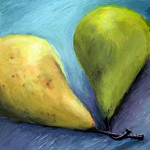 Two Pears Still Life von Michelle Calkins