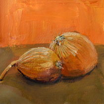Yellow Onions Still Life by Michelle Calkins