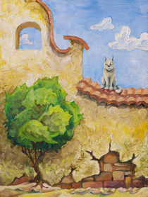 Cat and the tree von Oleksiy Tsuper