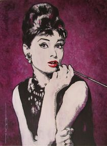Audrey Hepburn - Breakfast by Eric Dee