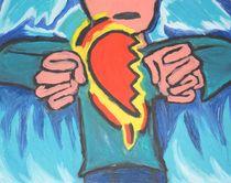 Holding half a heart by Travis  Dosser