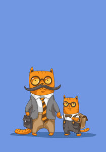 father and son by Marina Kostiushko