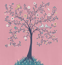 Pink Tree Of Life by Ruth Baker