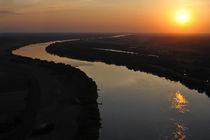 River at sunset  by Waldek Dabrowski