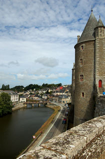 Josselin Castle and River Oust by RicardMN Photography