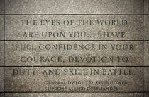 Quote of Eisenhower in Normandy American Cemetery and Memorial by RicardMN Photography