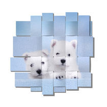 Westies blue mesh by Waldek Dabrowski