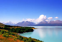 Southern Alps and Lake Pukaki South island New Zealand by Kevin W.  Smith
