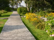 Flower Walkway-USA von Nancie Martin DeMellia