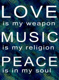 Love Music Peace by regalrebeldesigns