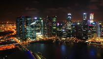 Skyline von Singapur von Julia  Berger