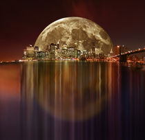 New York Full Moon von temponaut