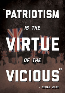 Patriotism Poster by Charlie Barber