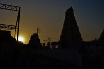 The Temple Sunset  von Samar Jha
