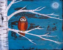 Orange Owl von Sunny Christensen