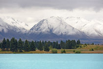 Glacier lake and snow-capped mountains by Johan Elzenga