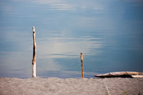 Two sticks on a beach by Michael Kloth