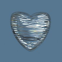 Chrome Heart - Slate Blue von Philip Roberts