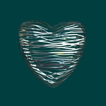 Chrome Heart Teal von Philip Roberts