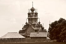 The wooden Russian church by Alexandr Verba
