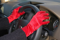 Red Driving Gloves von Buster Brown Photography