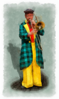 The Clown 1 aquarell by Wessel Woortman