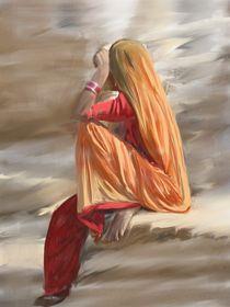 Rajastani Woman von Usha Shantharam