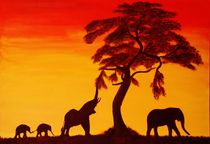 Sonnenuntergang in Afrika by Petra Koob