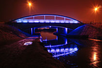 Blue Bridge at night von Buster Brown Photography