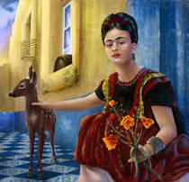 frida kahlo poster frida kahlo kunstdrucke online kaufen artflakes com. Black Bedroom Furniture Sets. Home Design Ideas