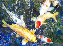 Koi Deep Blue von Patricia Allingham Carlson