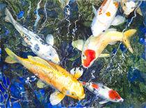 Koi Deep Blue by Patricia Allingham Carlson