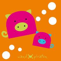 Pink Piglet - süße Schweinchen by Gosia Kollek