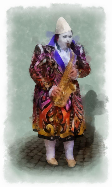 Woortman-w-clown-5-aquarell