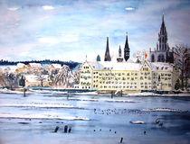 Münster und Inselhotel in Winterstimmung by Christine  Hamm