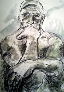 Thinker of Rodin by Núria Vives