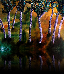Birch Forest Reflections by Angela Pari Dominic Chumroo