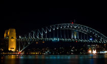 Night Sydney,Harbour Bridge by janna-bantan
