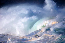 Waimea Bay Shorebreak Surf North Shore Oahu Hawaii by Kevin W.  Smith