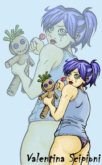 Woodo Girl (in Blue)!! by Valentina Scipioni
