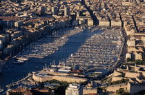 Aerial view of Marseille's Vieux-Port von Sami Sarkis Photography