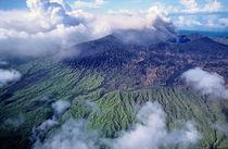 Smoking Mount Benbow Volcano in Vanuatu by Sami Sarkis Photography