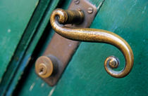 Ornate handle on green door von Sami Sarkis Photography