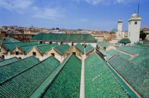 Rooftops of the buildings and mosque of the University of Al-Karaouine by Sami Sarkis Photography