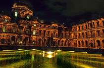La Cour CarrÈe and the building of the Louvre illuminated at night by Sami Sarkis Photography