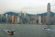 Skyline from Kowloon with Victoria Peak in the background by Sami Sarkis Photography