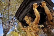 Golden Statue under trees  von Sami Sarkis Photography