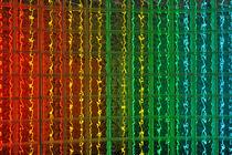 Colorful glass brick wall by Sami Sarkis Photography
