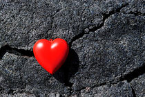 Heartshape on cold black lava by Sami Sarkis Photography