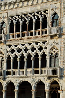 Doges' Palace facade with colonnade by Sami Sarkis Photography